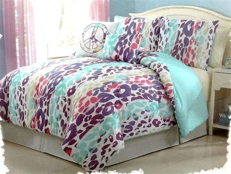 pink and purple comforter sets girls bedding blue pink purple leopard bed in a bag