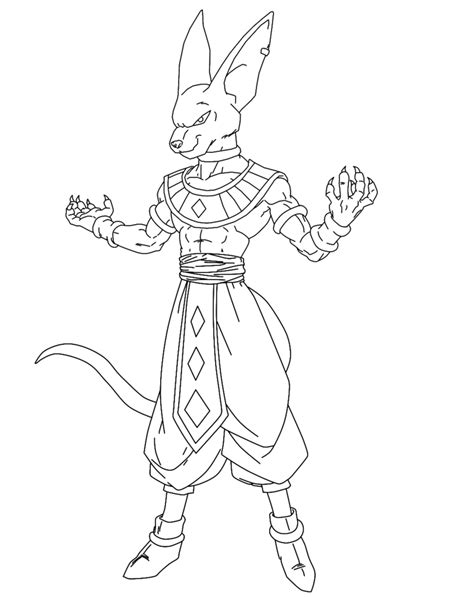 Facile Dragon Ball Beerus Coloriage Dragon Ball Z Z Battle Of Gods Coloring Pages