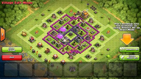 layout coc town hall 7 effective town hall 7 layout for clan wars clash of
