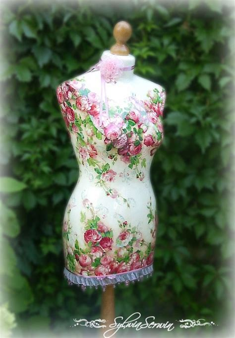 Decoupage Mannequin - so shabby chic decoupaged mannequin for the