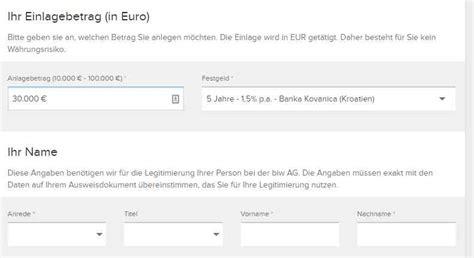 deutsche bank festgeldanlage banka kovanica festgeld im test bis zu 1 5 zinsen aufs