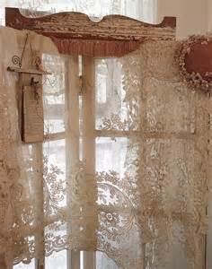 rideau dentelle de calais rideau voilage shabby