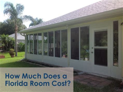 how much does a sunroom florida room cost new smyrna