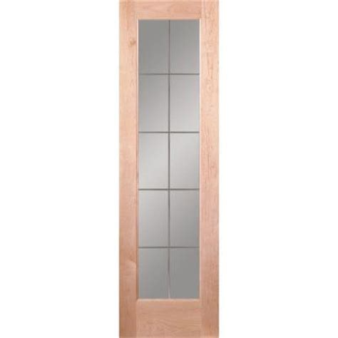 24 X 72 Interior Door Feather River Doors 24 In X 80 In 10 Lite Illusions Woodgrain Unfinished Maple Interior Door