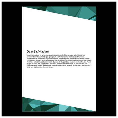 elegant shades green polygonic letterhead design