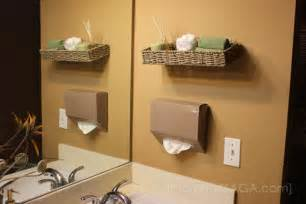 diy bathroom ideas floating wall decor and kleenex hand towels tutorial honey lime