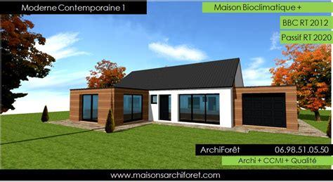 Moderne Terasse 5212 moderne contemporaine 1 maison design ossature bois plain