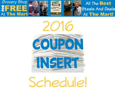 printable 2015 coupon insert schedule 2016 coupon insert schedule grocery shop for free at
