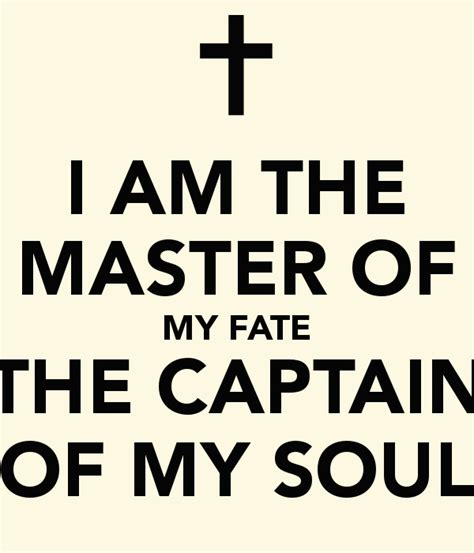 master of my fate captain of my soul tattoo i am the master of my fate the captain of my soul poster