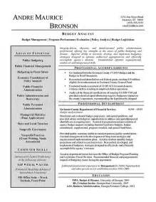 Federal Budget Analyst Sle Resume by Budget Analyst Resume Exle