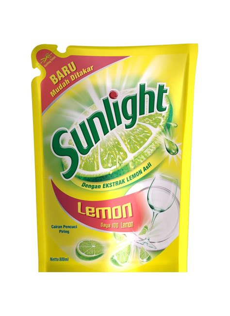 Sunlight Lemon New Refill 800ml sunlight pencuci piring ref lemon pch 800ml klikindomaret