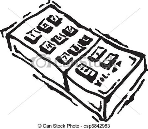 remote control line art drawing. t.v. or television remote