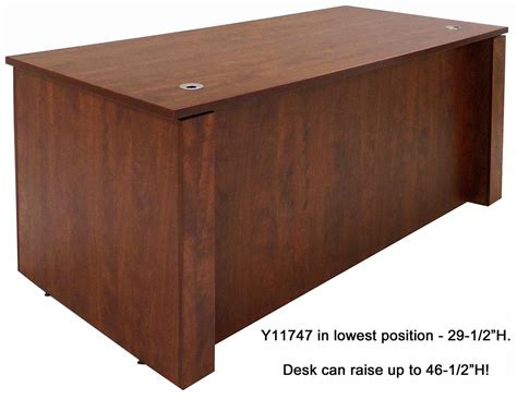 adjustable office desk adjustable height executive office desk in cherry
