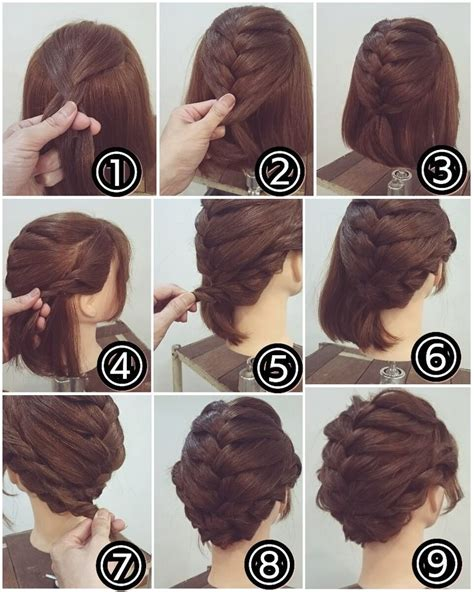 braids updo for short hairstep by step best 25 short hair hairdos ideas on pinterest styles