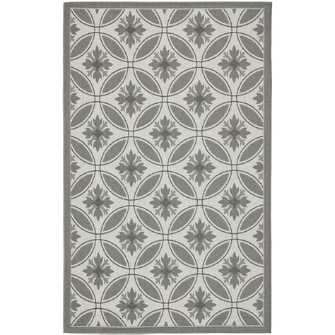 safavieh cy7529 78a5 courtyard indoor outdoor area rug light grey lowe s canada safavieh courtyard light gray anthracite 5 ft 3 in x 7 ft 7 in indoor outdoor area rug