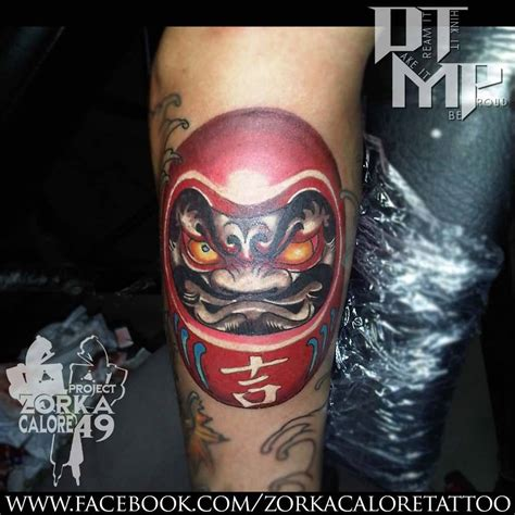 daruma doll tattoo designs black ink pyramid with clock design for forearm by
