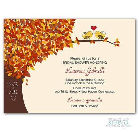 Fall Bridal Shower Invitations by Fall Bridal Shower Invitation Wedding Invite By