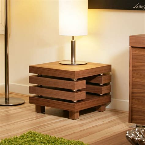 side table 50x50 coffee end side l table square walnut modern