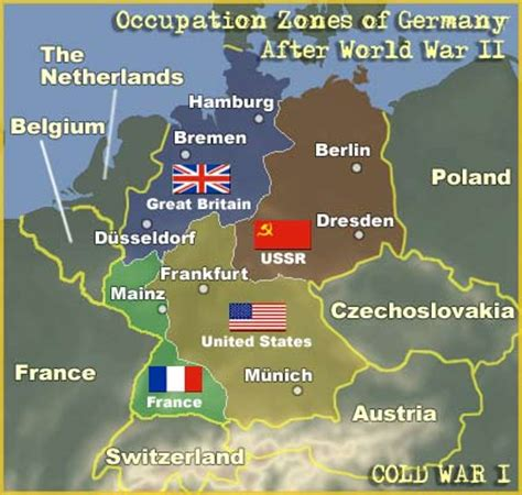 map of world germany map occupation zones of germany after world war ii