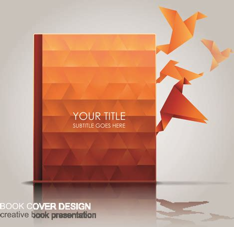 graphics design books free download creative book with origami birds design vector free vector