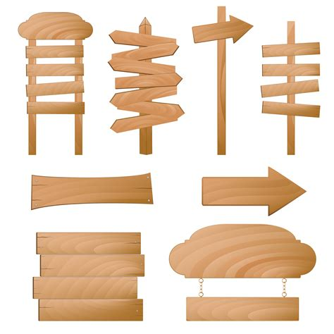 woodworking signs beautifully realistic wood signs vector 3 free vector