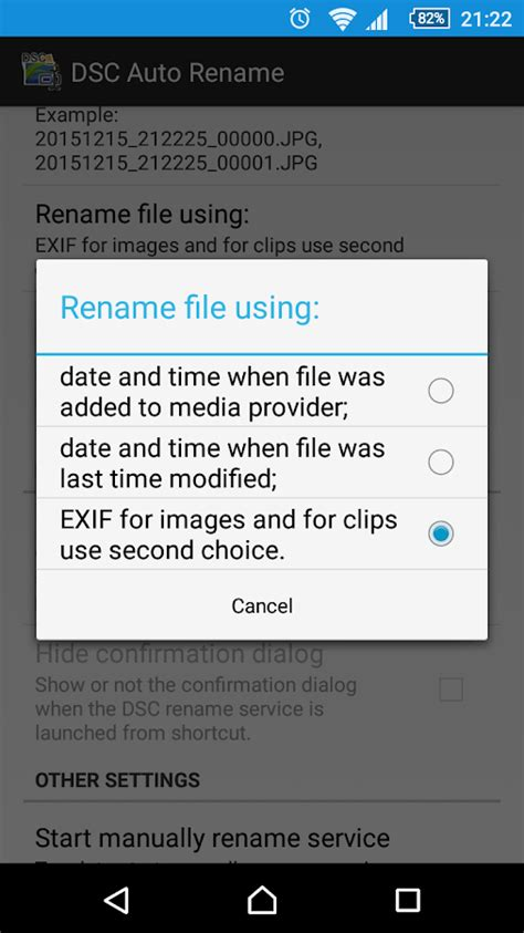 rename android app dsc auto rename android apps on play