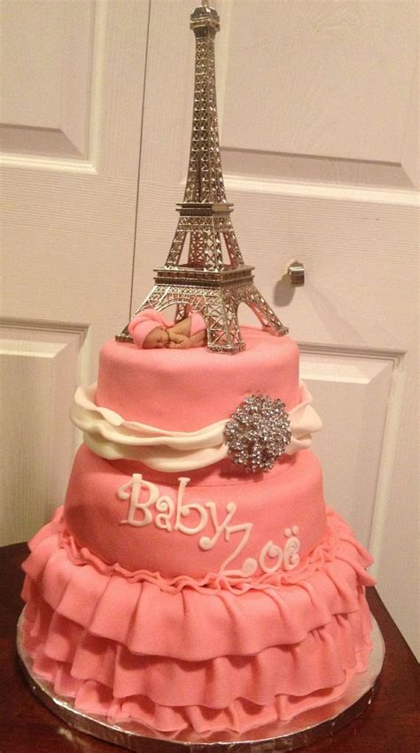 Eiffel Tower Baby Shower Cakes by Eiffel Tower Baby Shower Cake Cakes Treats And Other Creations Babies