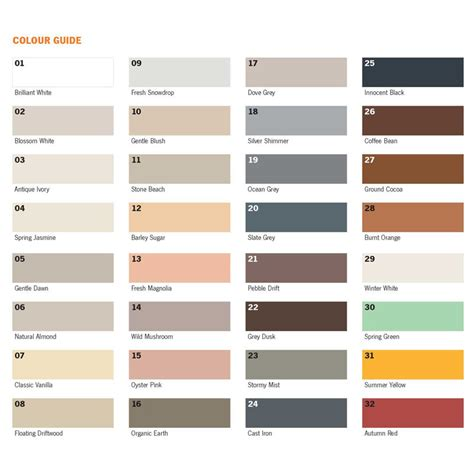 np1 color chart k l now stocks np1 ardex flex fl rapid setting tile grout colour
