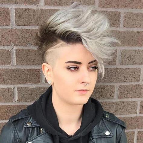 undercut short pixie hairstyles  ladies