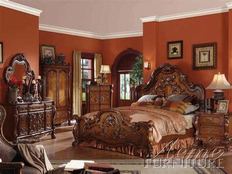 cherry oak bedroom set acme dresden cherry oak queen 6 pc bedroom set ebay