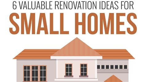 the best home renovation ideas for small homes infographic