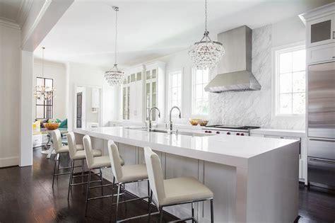 Bridge Style Kitchen Faucets extra long kitchen hood design ideas