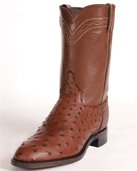 ostrich boots justin 174 s antique quill ostrich boots fort brands