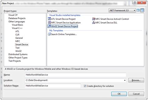 hosting webservices on windows embedded compact windows