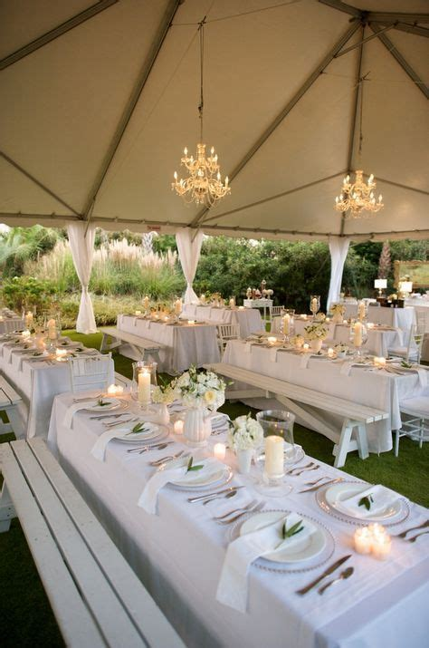 White Green Tent Wedding Reception   Table & Venue decor
