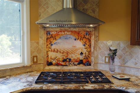 Kitchen Tile Murals Backsplash | italian tile murals tuscany backsplash tiles