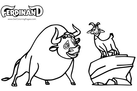 ferdinand coloring book based on animated by bluesky 2017 books ferdinand coloring pages getcoloringpages