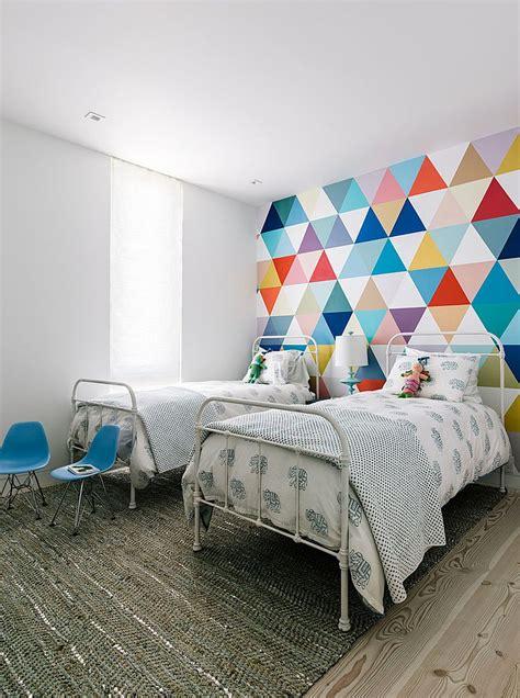 Creative wall murals for kids fabulous wallpaper adds accent ideas