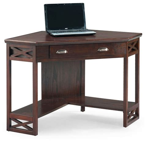 Oak Finish Computer Desk by 17 Leick Corner Computer And Writing Desk Chocolate