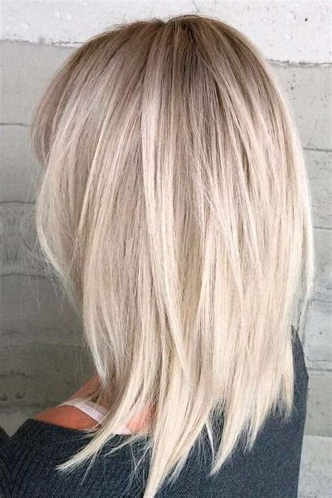 medium hair styles with blond in front color 10 messy medium hairstyles for thick hair women medium