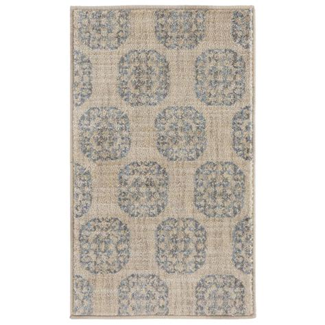 home accents rug collection home decorators collection essex medallion slate 1 ft 10 in x 3 ft accent rug 449255 the