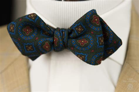 bow ties in real ancient madder silk wool challis