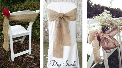 Diy Burlap Chair Sashes by 25 Best Ideas About Burlap Chair Sashes On
