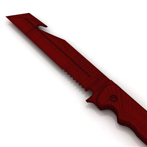 acb 90 knife 3d model acb 90 advanced combat blade vr ar low poly