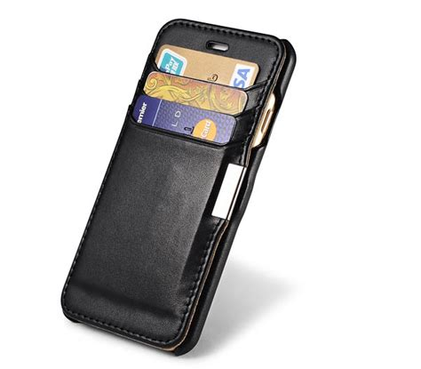Leather Card Slot Casing Kulit Iphone 6 6s 6 6s 7 7 8 8 Plus icarer iphone 6 6s card slot luxury series side open leather wallet cover