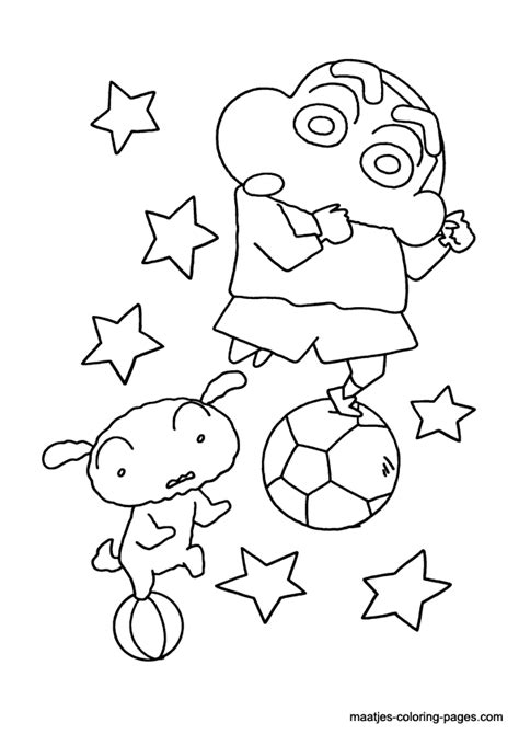 shin chan free colouring pages