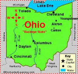 us map ohio cities map of ohio us