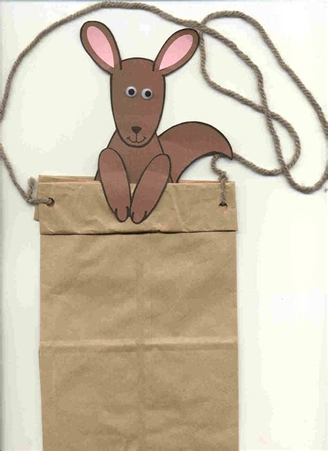 Kangaroo Paper Craft - mencke youth services librarian kangaroo