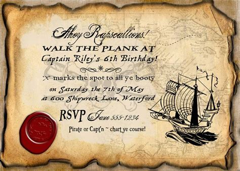 Pirate Birthday Party Invitation Instant Download Partially Editable Printable Invite By Pirate Birthday Invitation Template