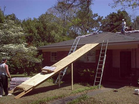 lift packages  shingles   roof